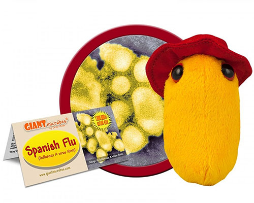 Urology Gifts - Giant Microbes Spanish Flu Plush