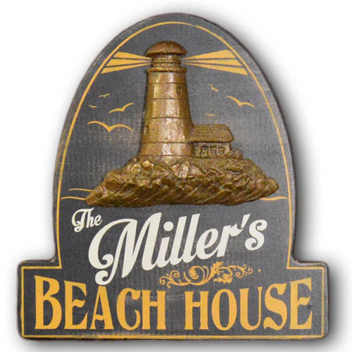 Personalized Vintage Beach House Sign