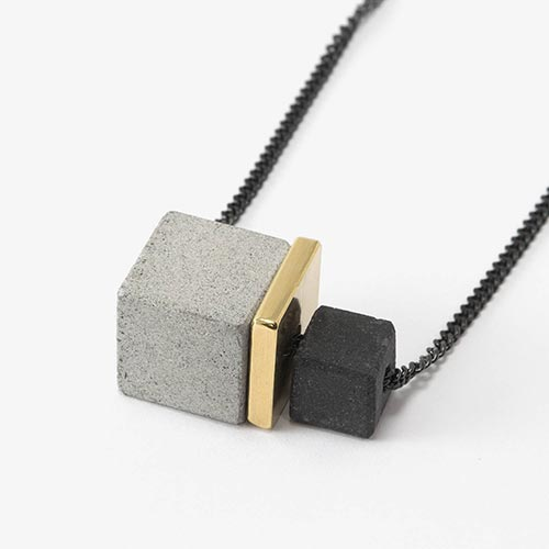 Architectural Gift Ideas - Concrete Geometric Necklace