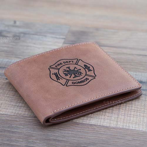 Custom Engraved Fireman's Wallet