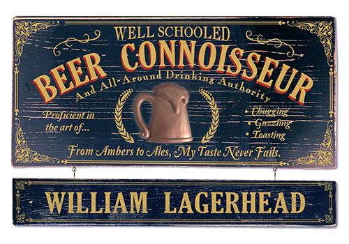 Personalized Connoisseur Plaques