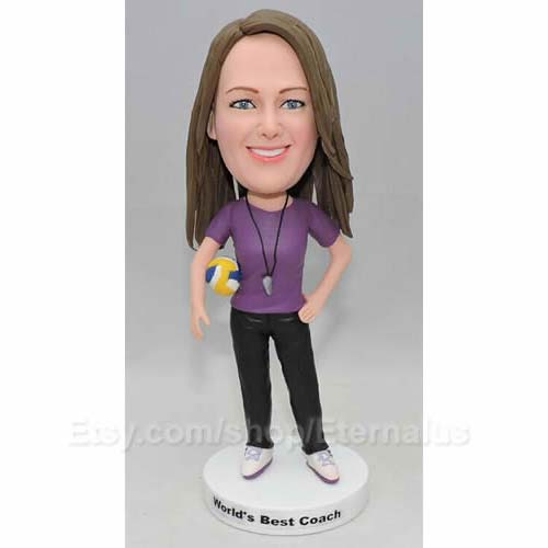 Sports Coach Custom Bobblehead Doll