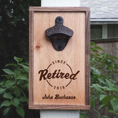 Retirement Gifts for Coaches: Personalized Bottle Opener