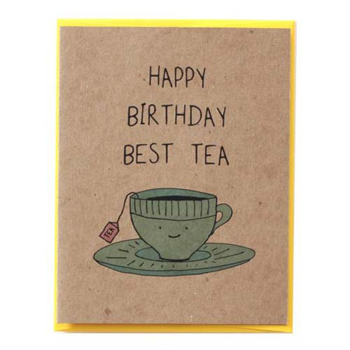 Funny Birthday Card Puns: Happy Birthday Besttea