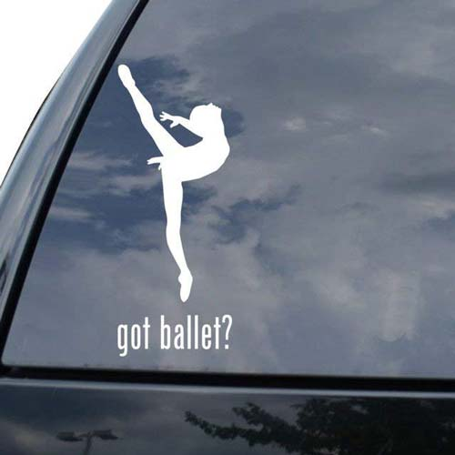 Gift Ideas for Ballet Teacher: GOT BALLET? Car Decal