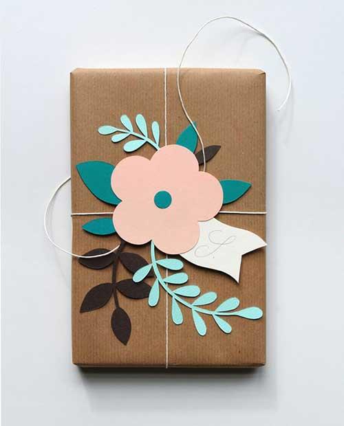Flower Cutouts DIY Gift Wrap