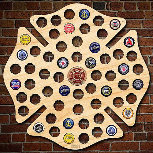 Fire Department Shield for Beer Caps