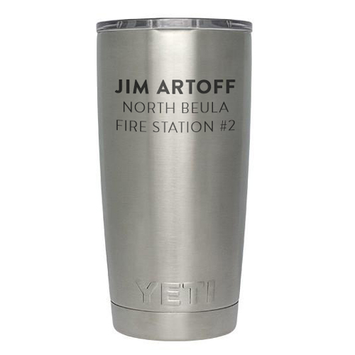 Custom Engraved Tumbler Fire Department GIfts