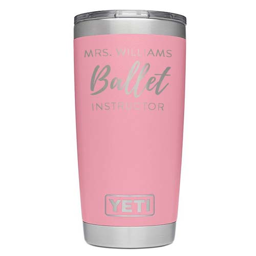 Custom Engraved Pink Coffee Mug