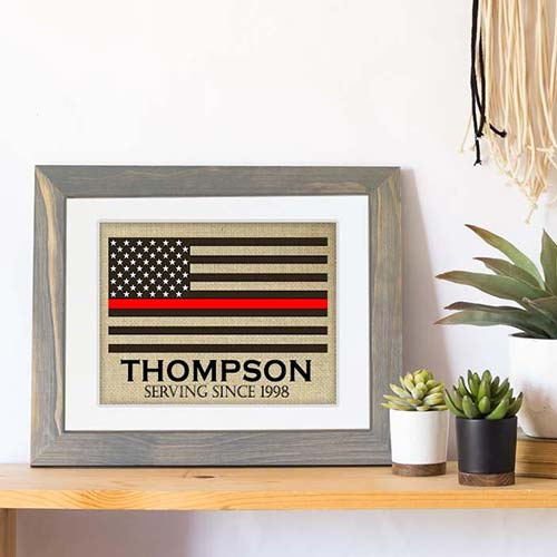 Personalized Fire Fighter Print