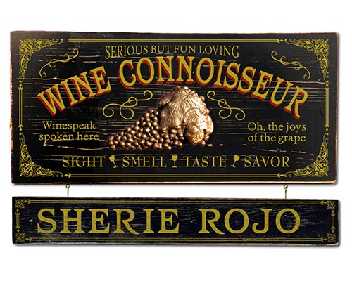 Vintage Personalized Wine Sign for a Cardiologist