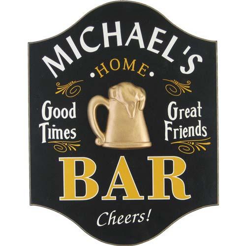Custom Home Bar Sign