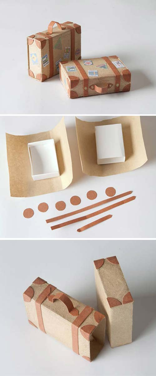 Creative DIY Gift Wrap Tutorials - Suitcase