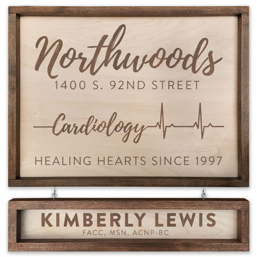 Custom Engraved Handcrafted Cardiology Sign - Gift Ideas for Cardiologists