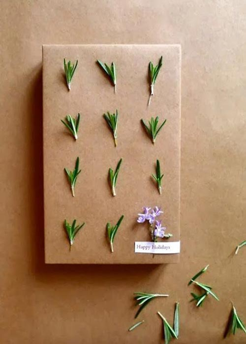 Decorate your wrapping paper with cute nature accents!