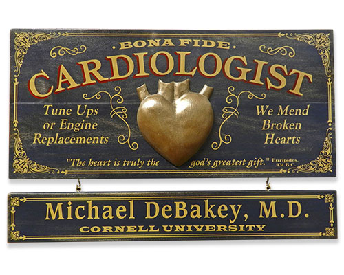 Cardiology Gift Ideas: Vintage Professional Plaque
