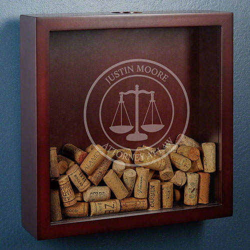 Lawyer Gifts: Personalized Cork Catcher