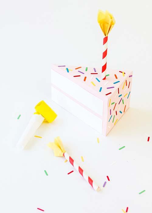 DIY Tutorial: Birthday Cake Gift Box