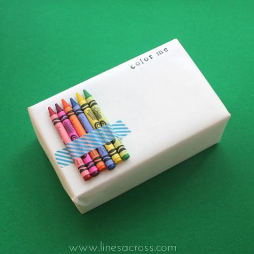 Creative Gift Wrap Ideas - Color Me Activity!