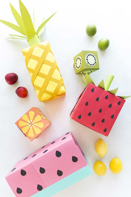 Fruit shaped wrapping paper tutorial