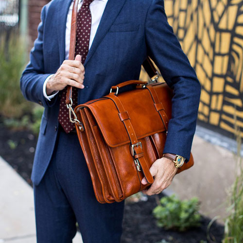 Attorney Gift Ideas: Handmade English-style leather briefcase