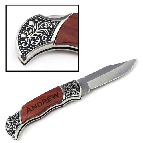 Simple Gift Ideas for Men: Custom Engraved Pocket Knife
