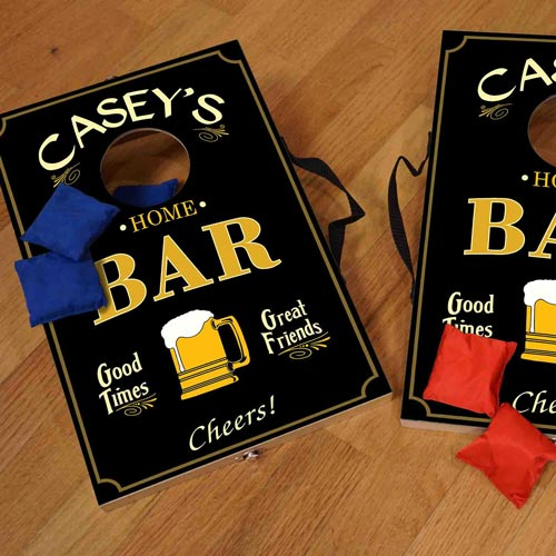 Custom gift ideas for guys - Personalized Cornhole Game Set