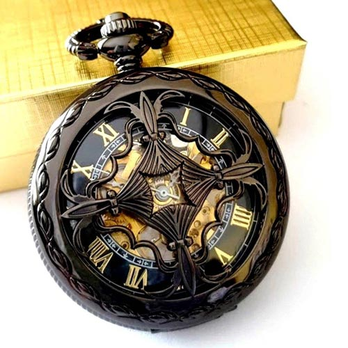 Custom Gifts for Him - Personalized Pocket Watch