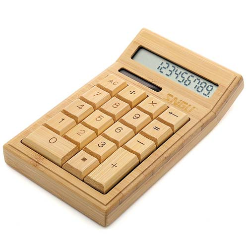 Bamboo Wood Calculator Gift Idea for Engineers