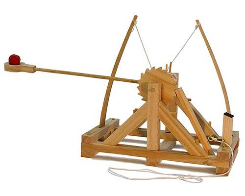 Da Vinci's Catapult Model