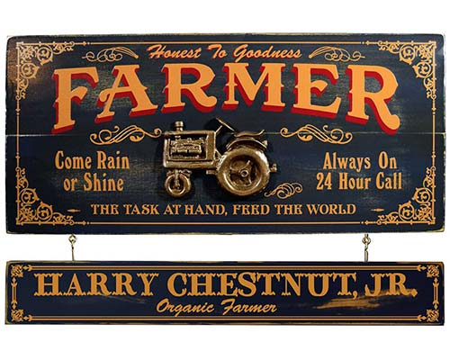 Personalized Farmer Sign