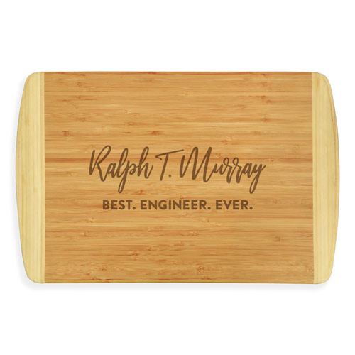 Custom Engraved Cutting Board Engineer Gifts