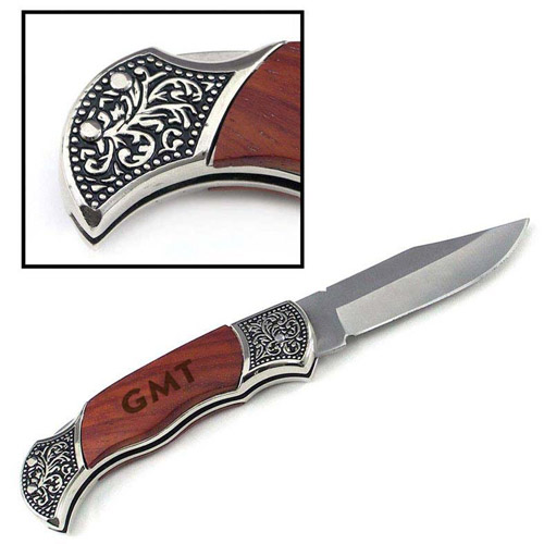 Antique style pocket knife engraved for the engineer