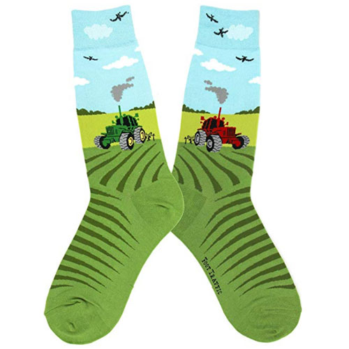Fun Tractor Farming Socks