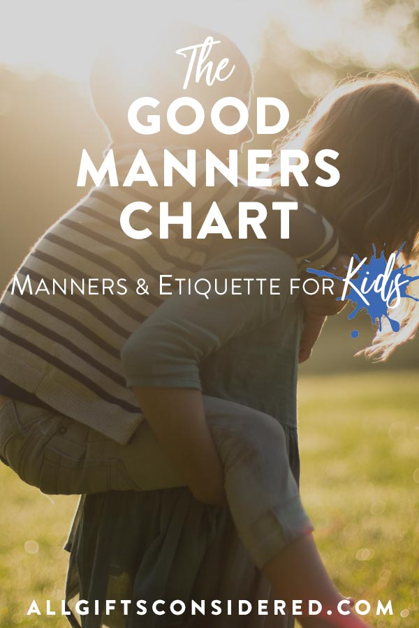 Free Download: The Good Manners Chart