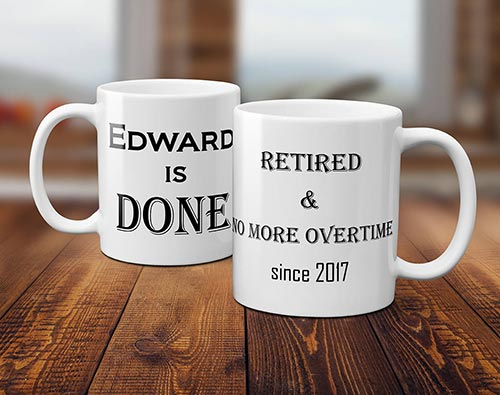 Personalized Retirement Gift Coffee Mug