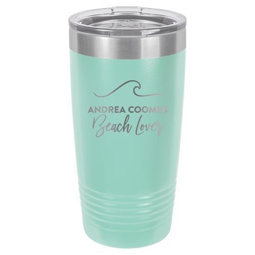Beach Lover Tumbler - Custom Engraved