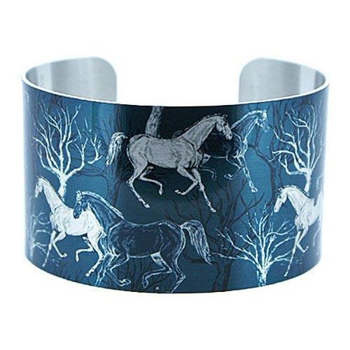 Blue Horse Cuff Bracelet