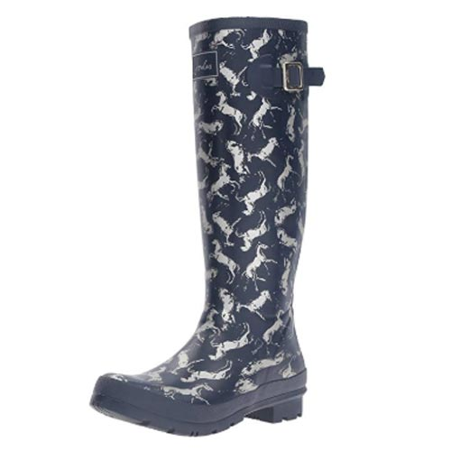 Horse patterned rain boots