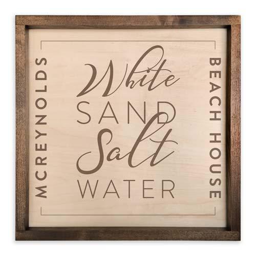 White Sand, Salt Water - Beach Lover Gift