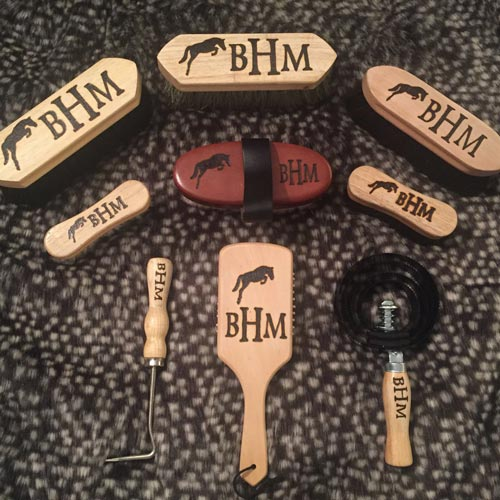 Custom Natural Fiber Horse Grooming Set