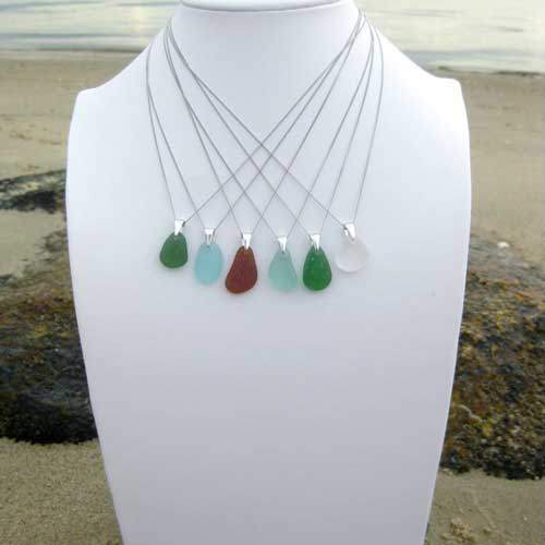 Sea glass necklace - Beach Gifts