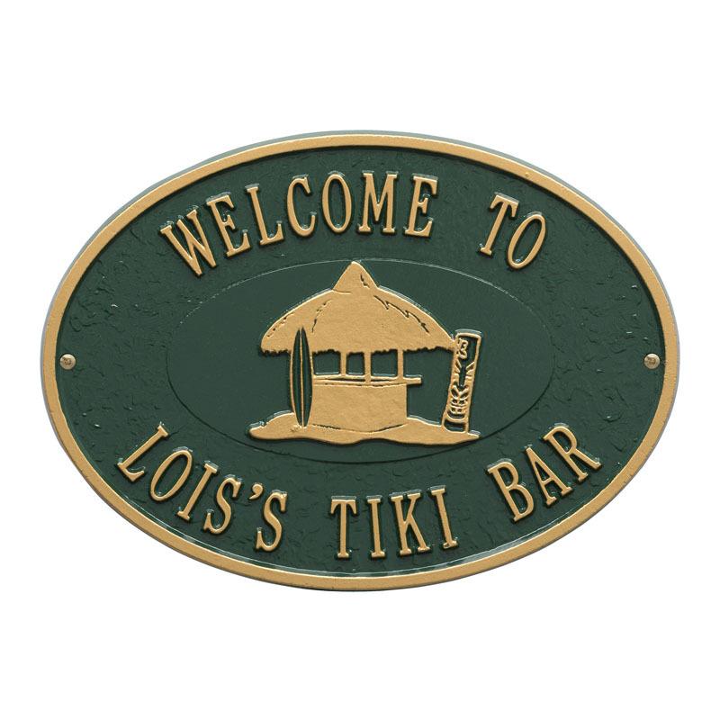 Personalized tiki hut sign