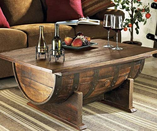 Whiskey Barrel Coffee Tables