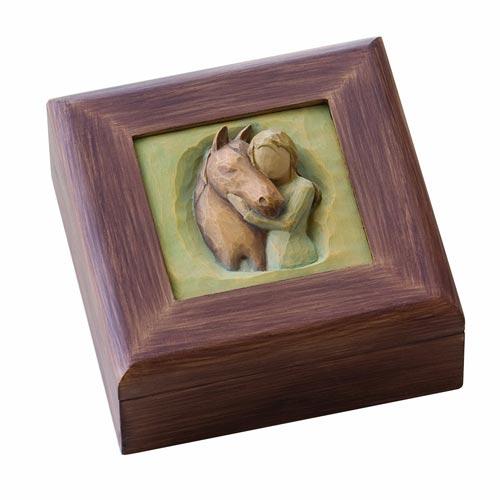 A Quiet Strength Willow Tree horse keepsake box