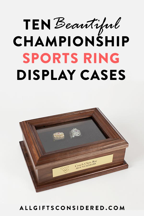 Sports Championship Ring Display Cases