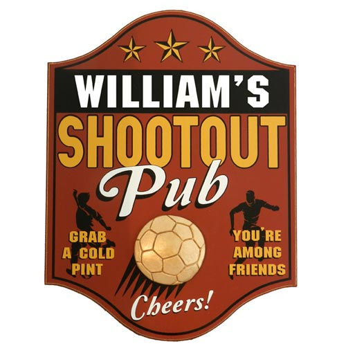 Soccer Coach Gifts - Personalized Pub Sign