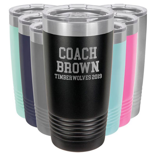Custom Engraved Tumbler for Soccer Coach
