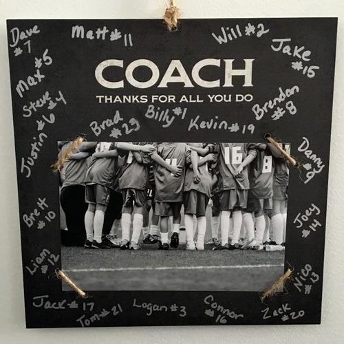 Thank you gift ideas for a soccer coach