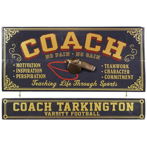 Personalized Soccer Coach Sign